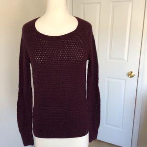 Sweaters - American eagle open knit sweater in dark purple S